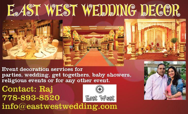 East West Wedding Decor Seo Web Design Services Surrey Bc Delta Website Designers