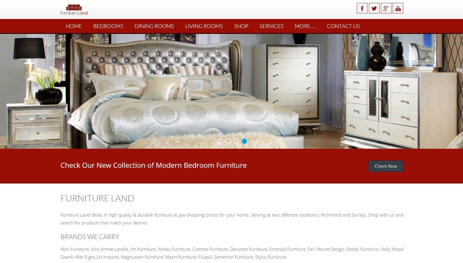 FURNITURE LAND - SEO & Web Design Services, Surrey BC, Delta Website ...