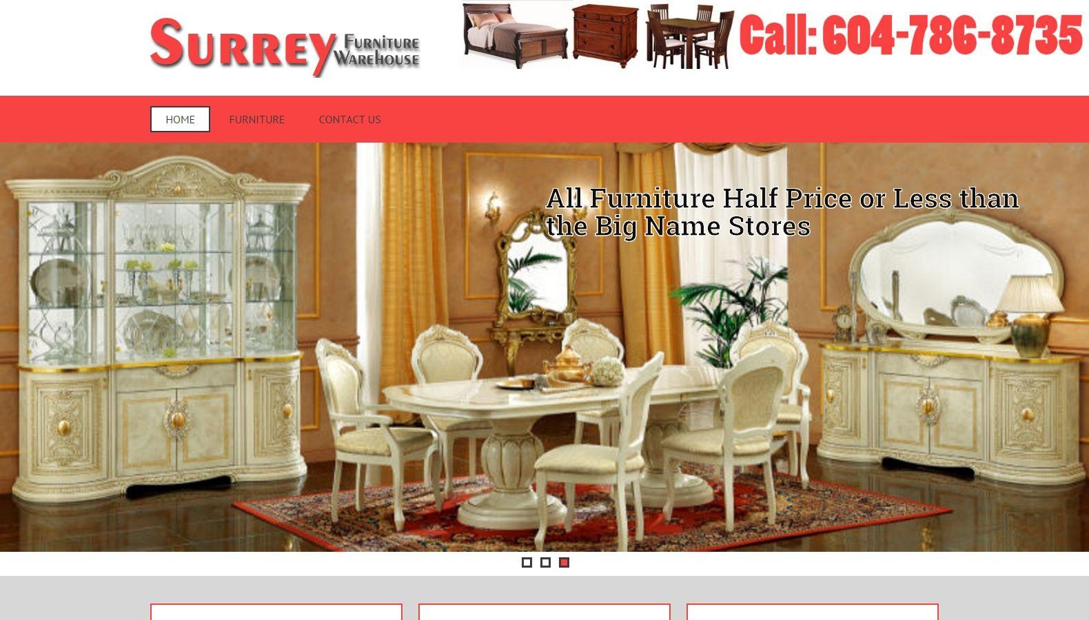 Surrey Furniture Warehouse Seo Web Design Services Surrey Bc Delta Website Designers