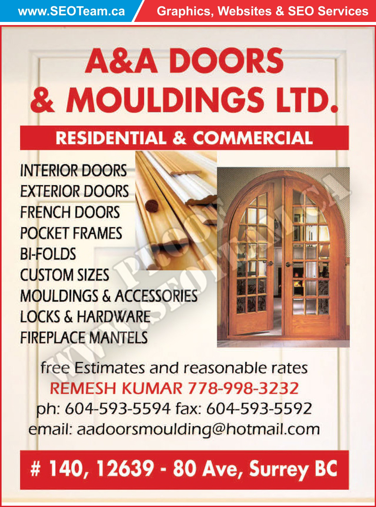 Aaa Doors And Mouldings Ltd Surrey BC - Design By SEOTeam.ca
