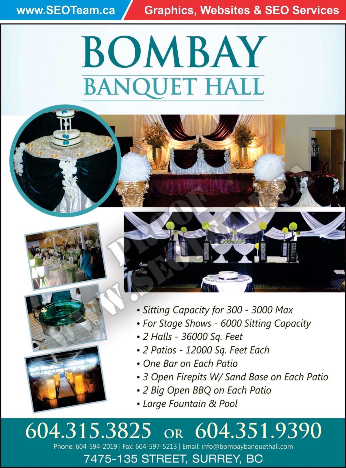 bombay banquet hall design by seoteam ca seo web design