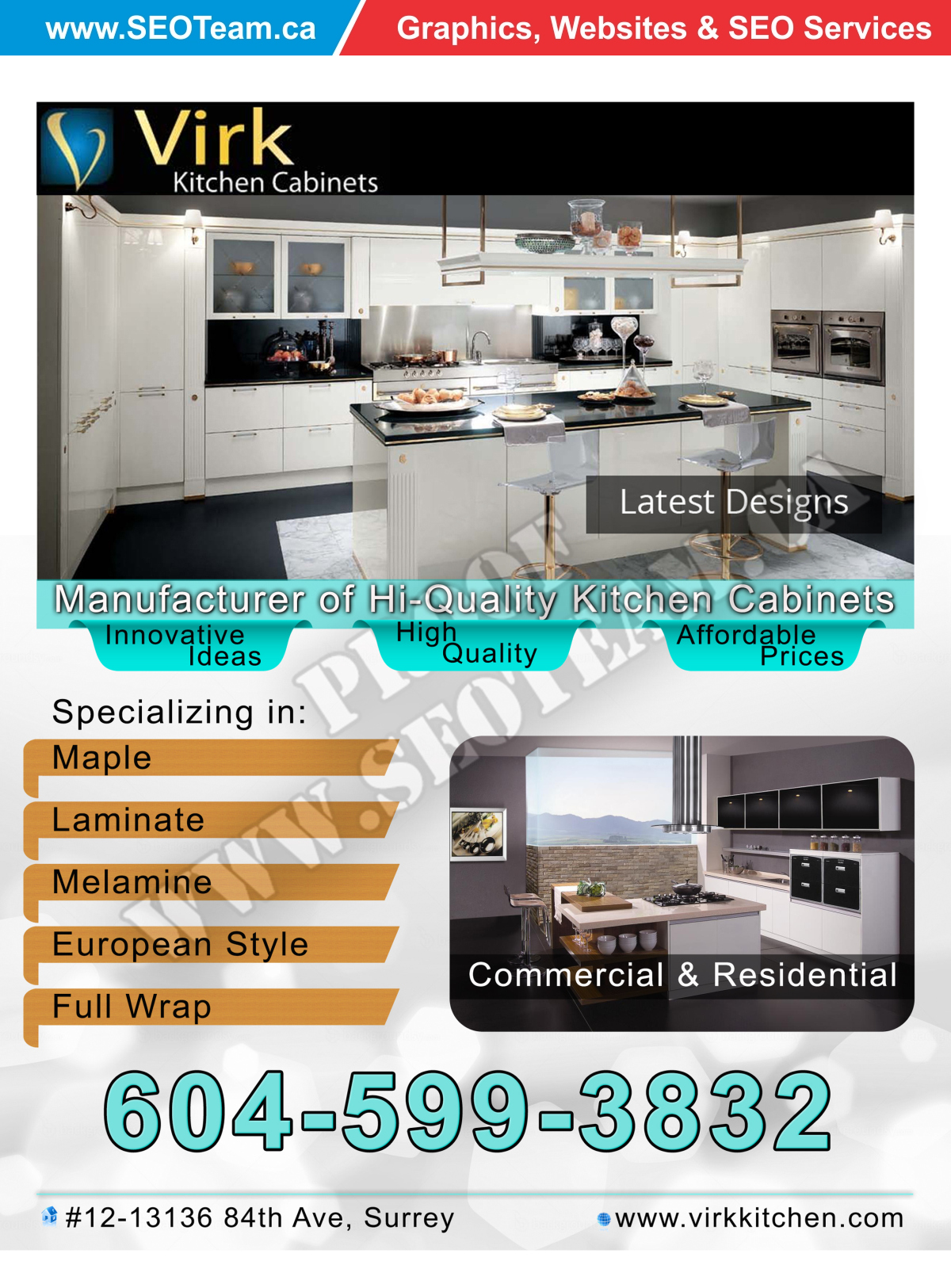 Virk Kitchen - Design By SEOTeam.ca