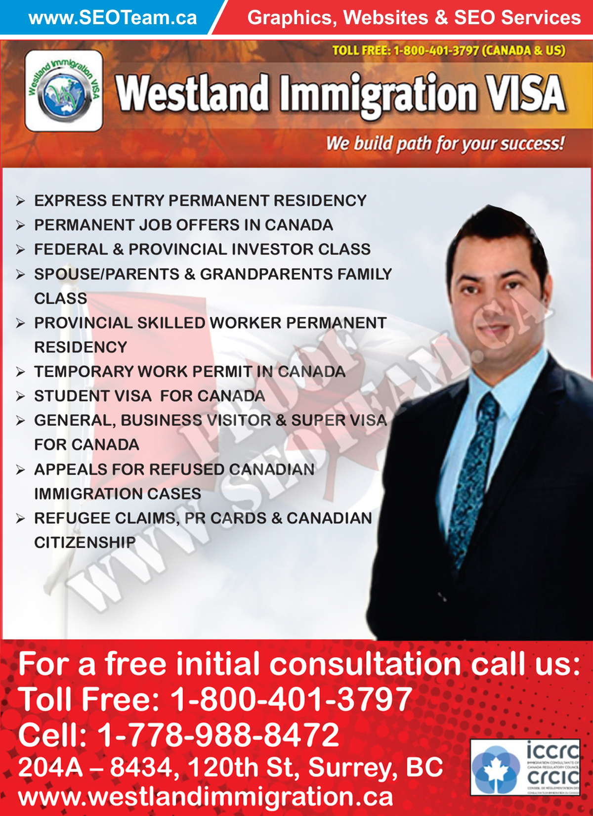 Westland Immigration - Design By SEOTeam.ca