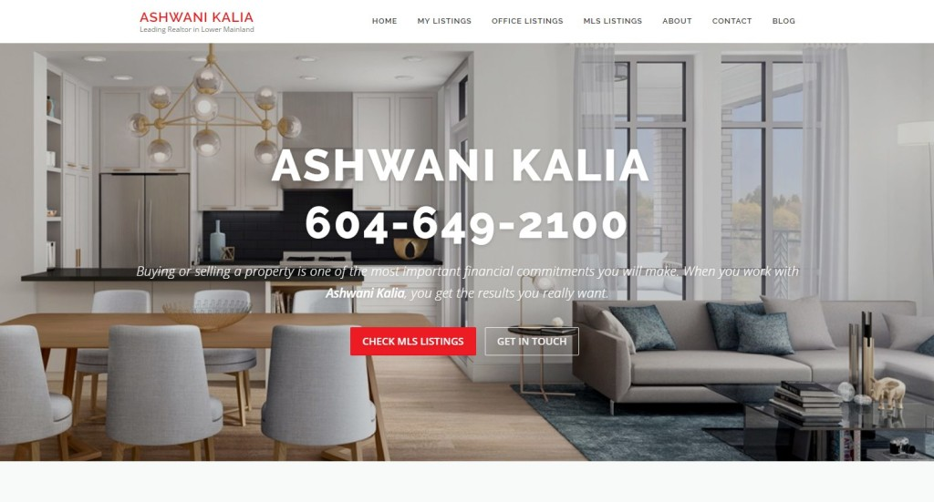 Ashwani Kalia – Website Designing by SEOTeam.ca