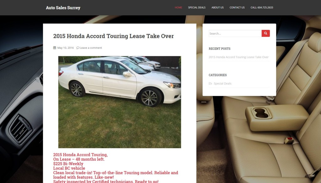 Auto Sales Surrey – Website Designing by SEOTeam.ca