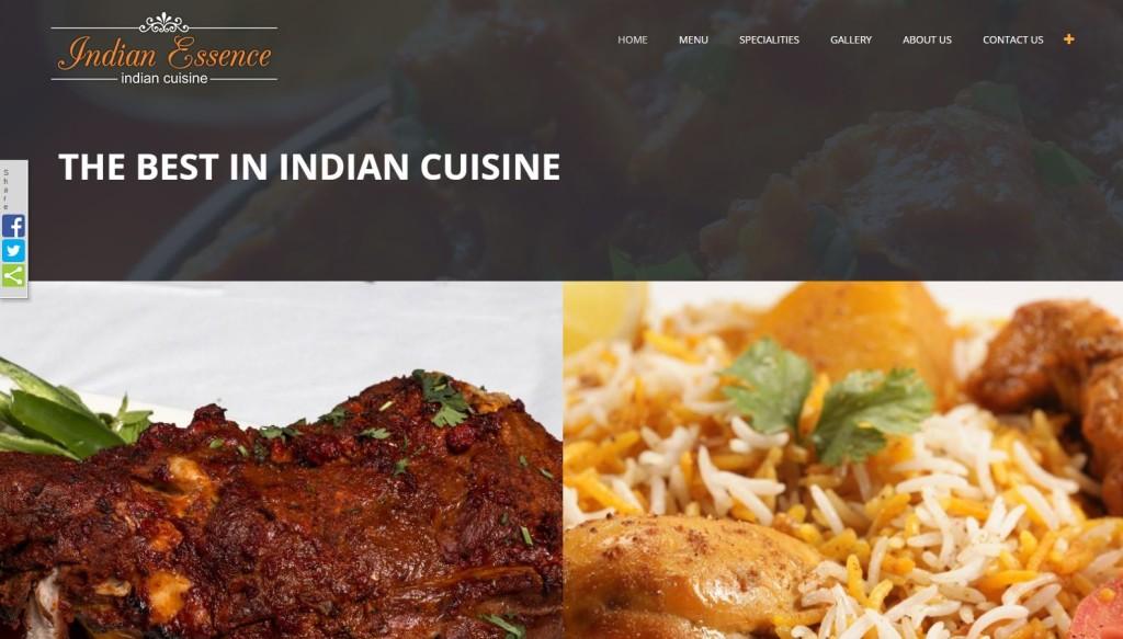 Indian Essence Restaurant – Website Designing by SEOTeam.ca