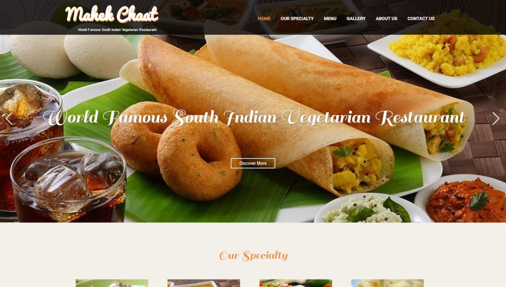 Mahek Chaat House – Website Designing by SEOTeam.ca