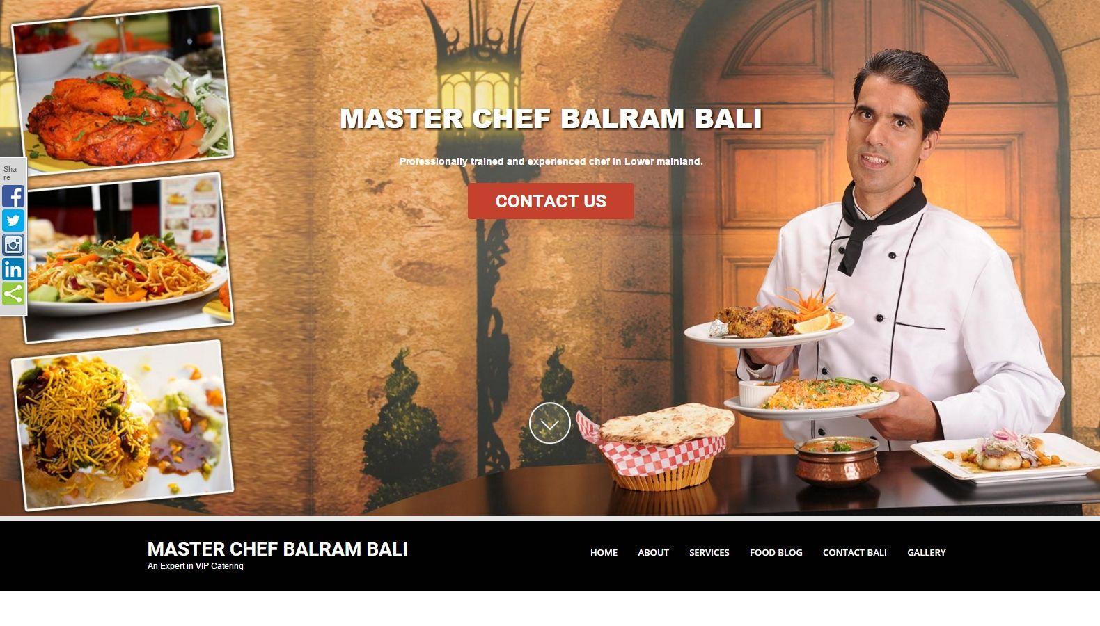 Master Chef Balram Bali - Website Designing By SEOTeam.ca