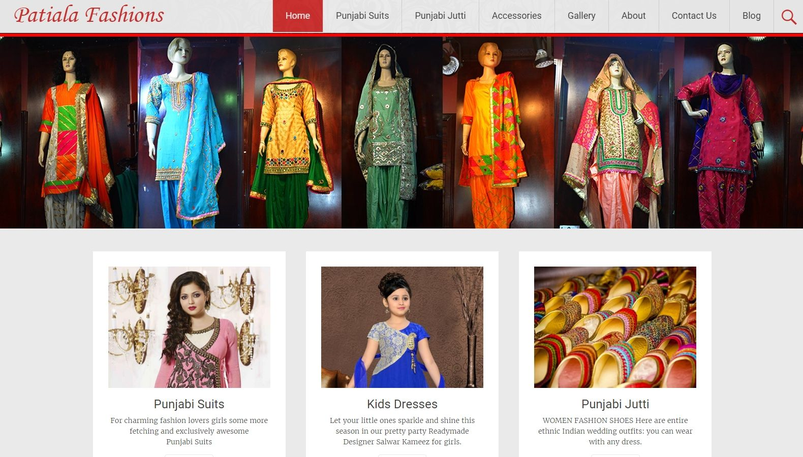 Patiala Fashions - Website Designing By SEOTeam.ca