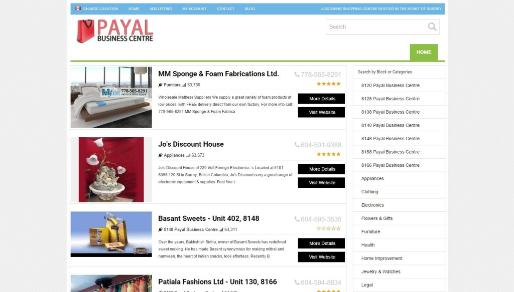 Payal Business Centre – Website Designing by SEOTeam.ca