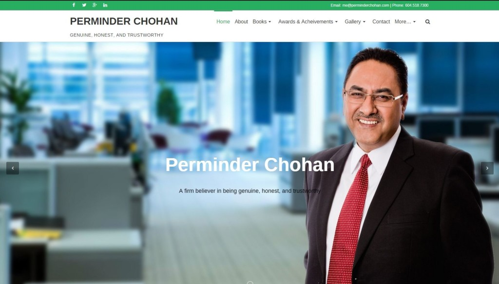 Perminder Chohan – Website Designing by SEOTeam.ca
