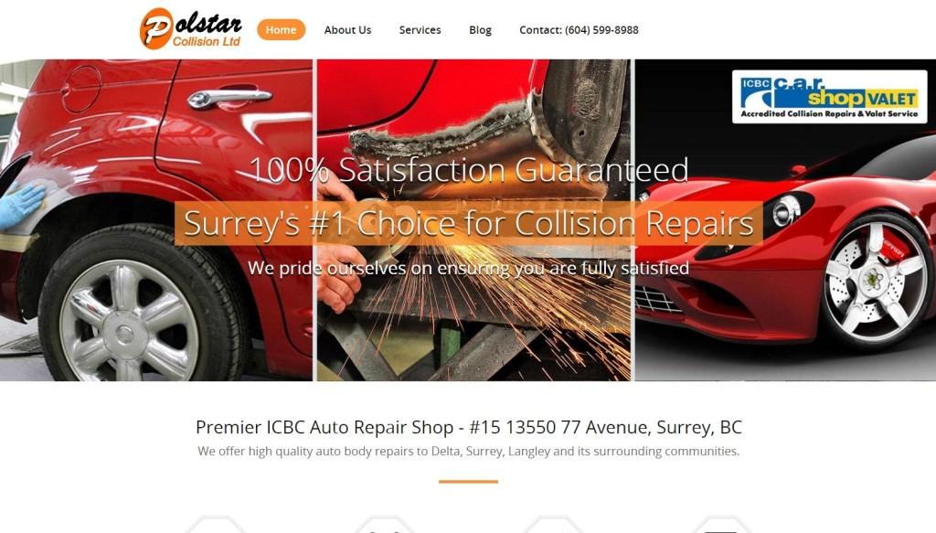 Polstar Collision – Website Designing by SEOTeam.ca