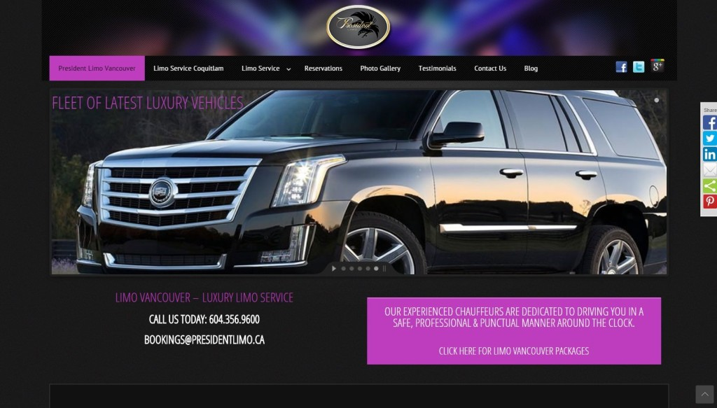 President Limo – Website Designing by SEOTeam.ca