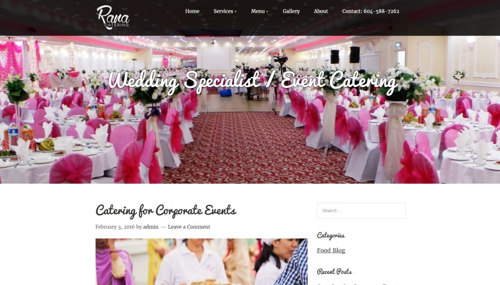 Rana Catering – Website Designing by SEOTeam.ca