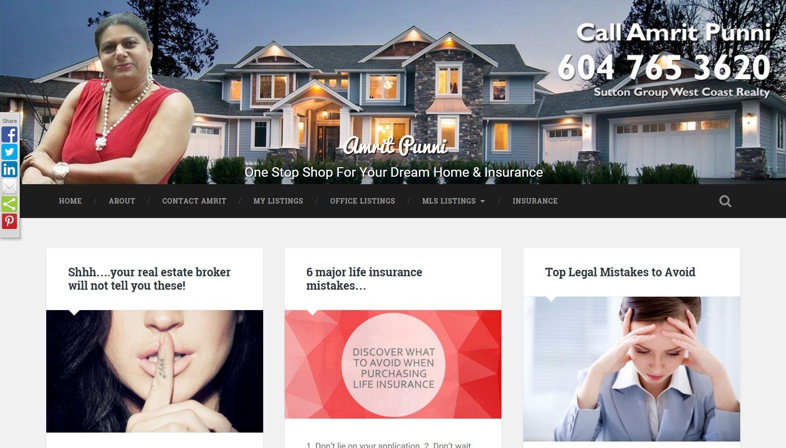 Realtor Amrit Punni - Website Designing By SEOTeam.ca