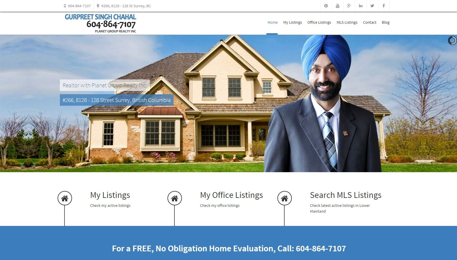 Realtor Gurpreet Singh Chahal - Website Designing By SEOTeam.ca