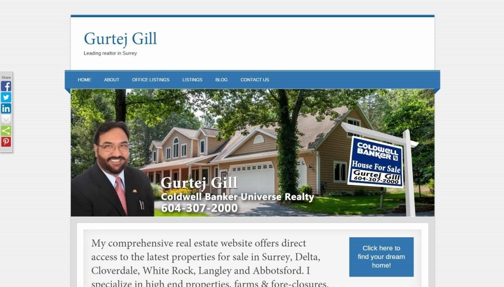 Realtor Gurtej Gill – Website Designing by SEOTeam.ca