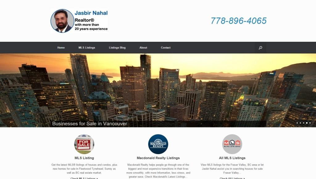 Realtor Jasbir Nahal – Website Designing by SEOTeam.ca