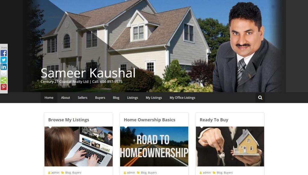 Realtor Sameer Kaushal – Website Designing by SEOTeam.ca