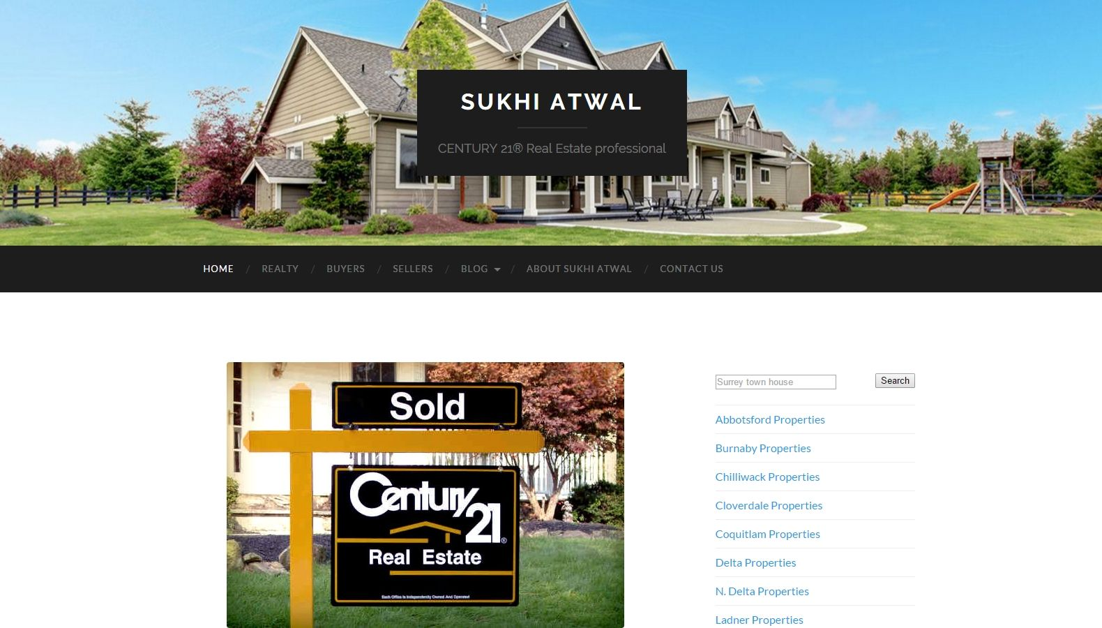 Realtor Sukhi Atwal - Website Designing By SEOTeam.ca