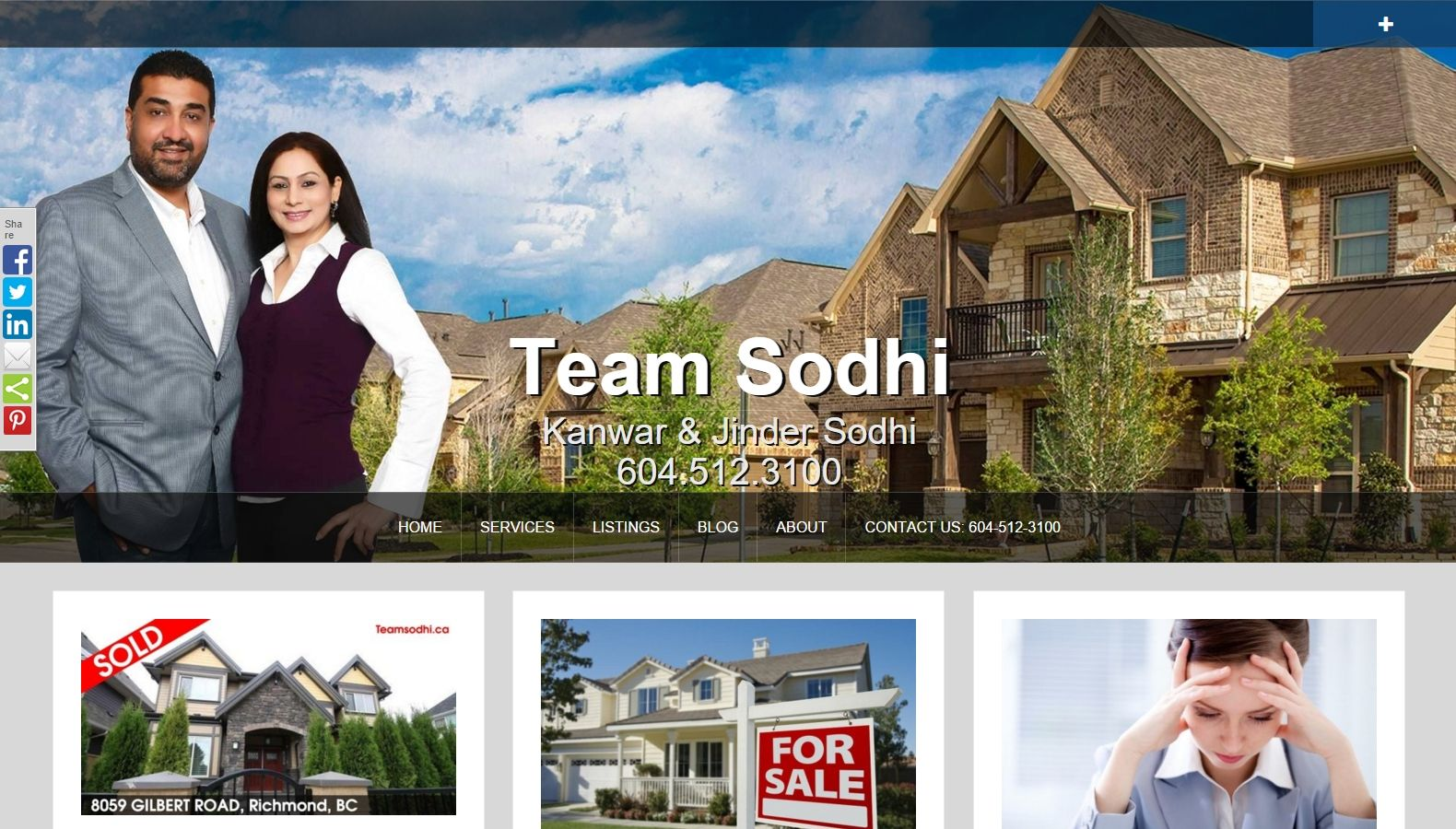 Realtor Team Sodhi - Jinder And Kanwar Sodhi - Website Designing By SEOTeam.ca
