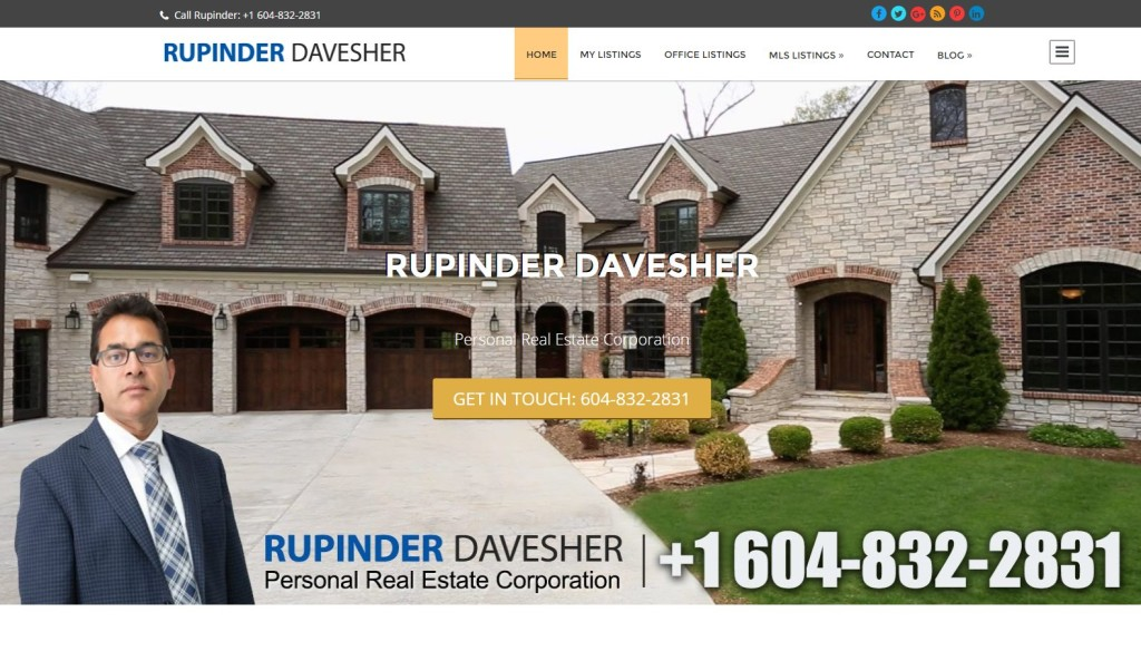 Rupinder Davesher – Website Designing by SEOTeam.ca
