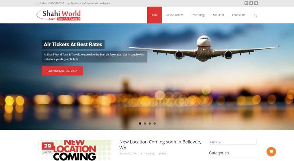 Shahi World Travel  – Website Designing by SEOTeam.ca