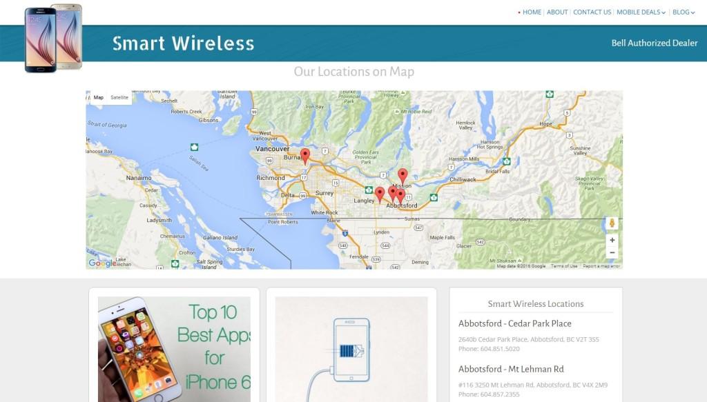 Smart Wireless – Website Designing by SEOTeam.ca