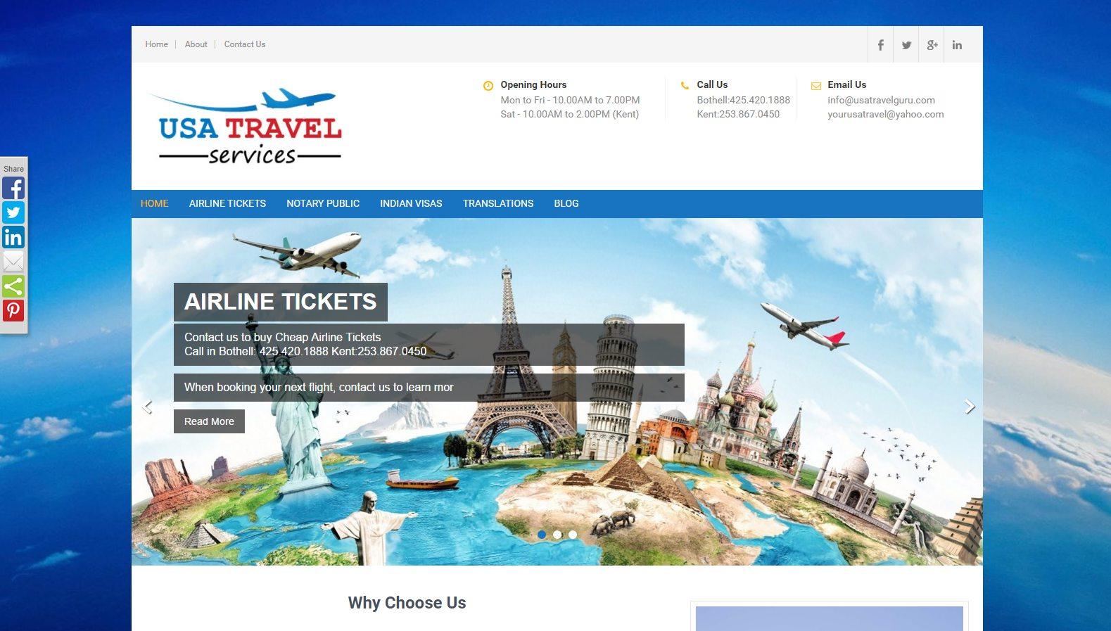 USA Travel - Website Designing By SEOTeam.ca