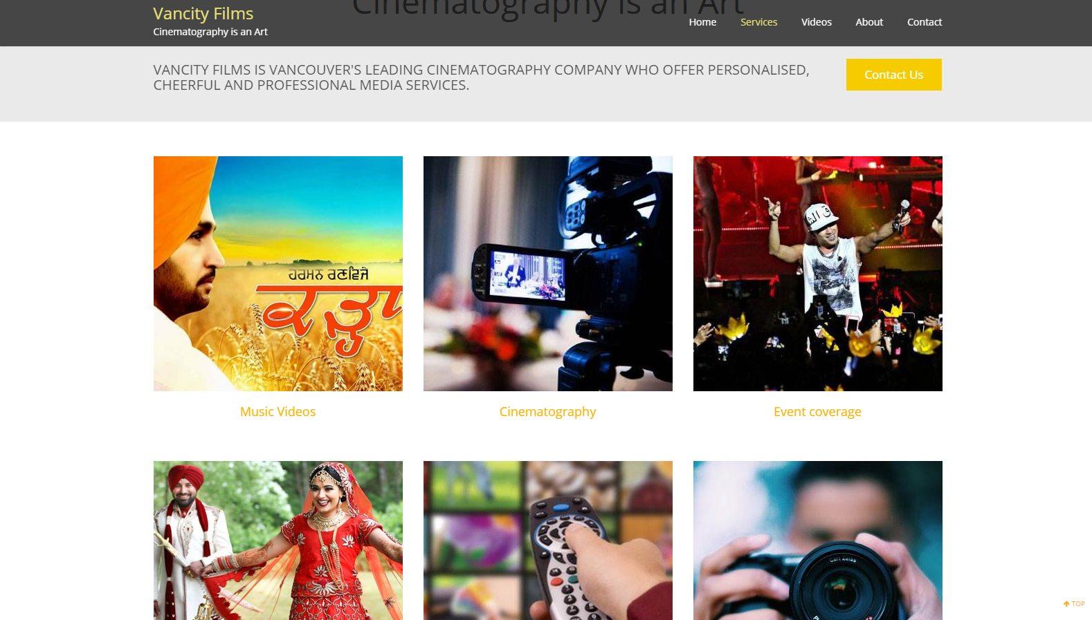 Vancity Films - Website Designing By SEOTeam.ca