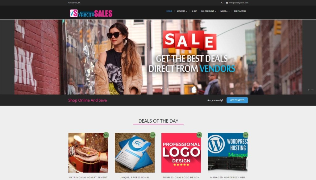 Vancity Sales – Website Designing by SEOTeam.ca