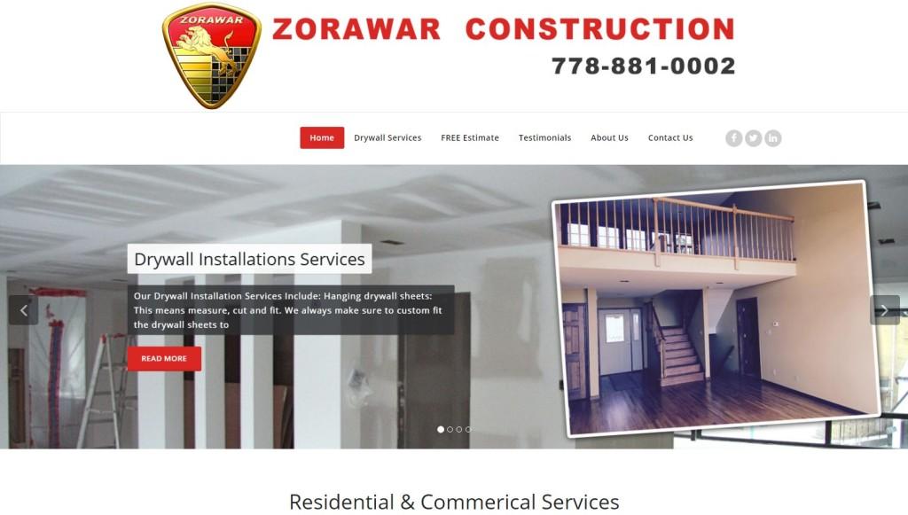 Zorawar Construction – Website Designing by SEOTeam.ca