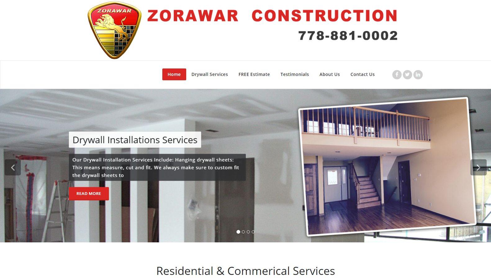 Zorawar Construction - Website Designing By SEOTeam.ca