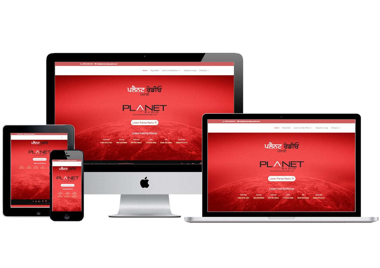 Planet Radio  – Website Design