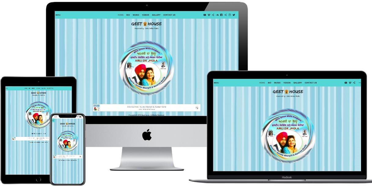 Music Website Design – geethouse.com