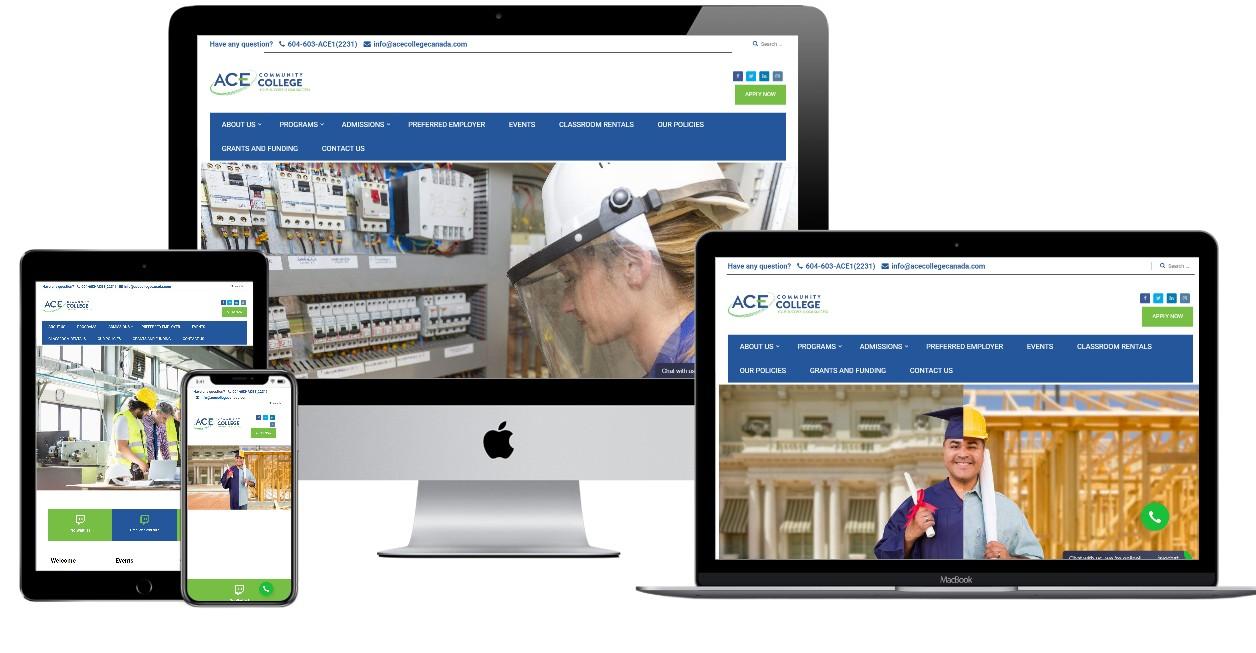 Education Website Design – acecollegecanada.com