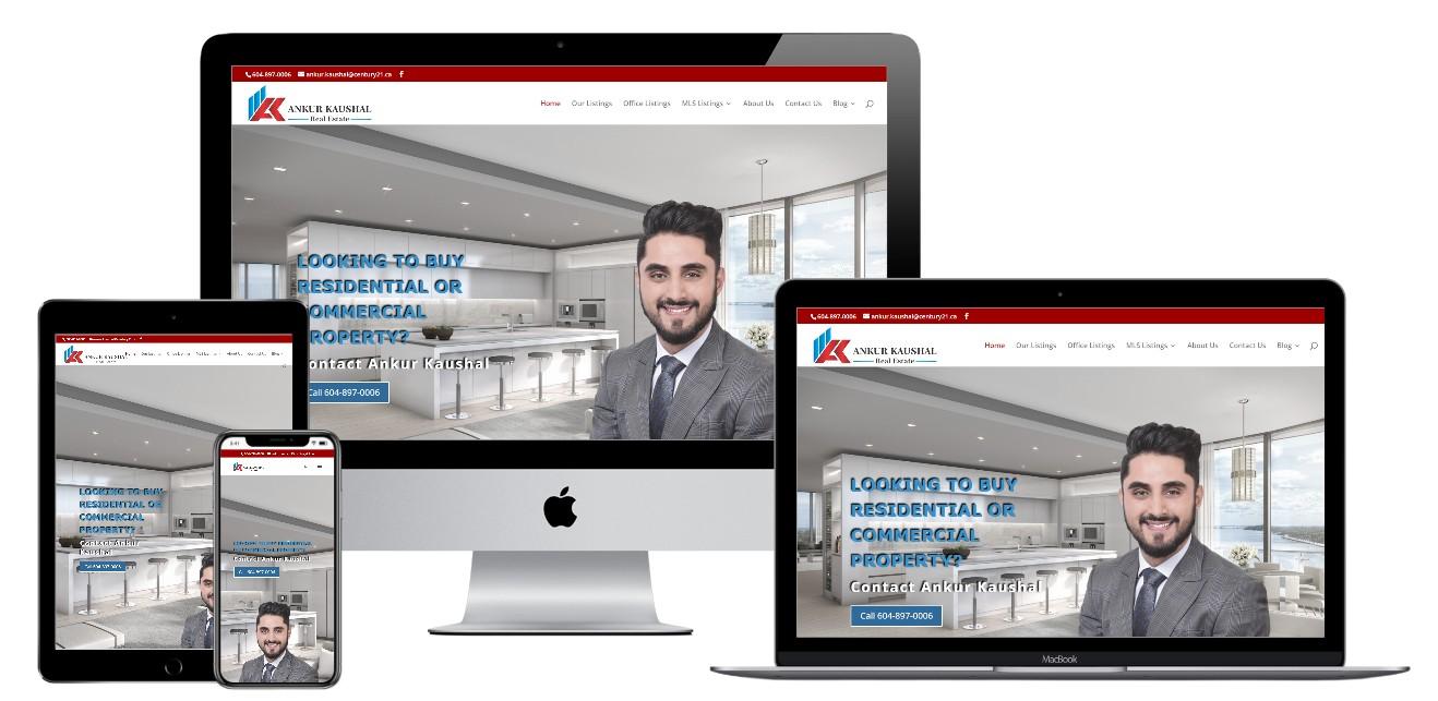 Real Estate Website Design – ankurkaushal.ca