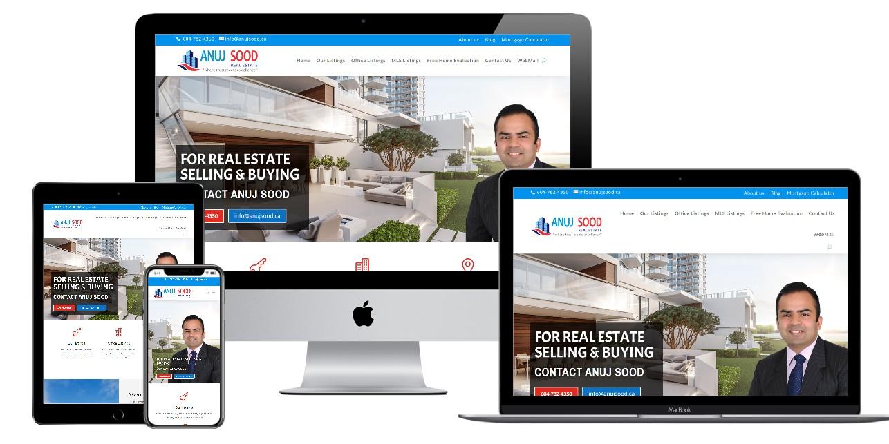Real Estate Website Design – anujsood.ca