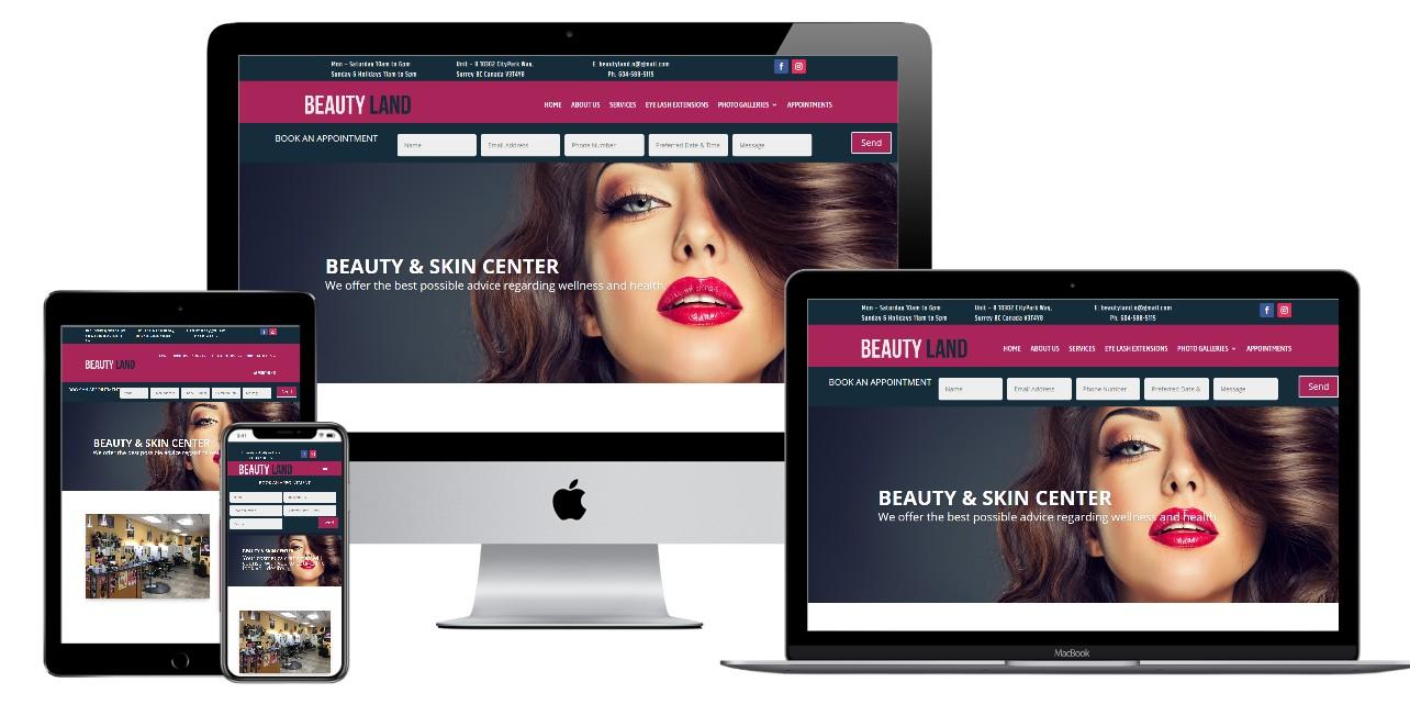 Salon Website Design – beautyland.ca