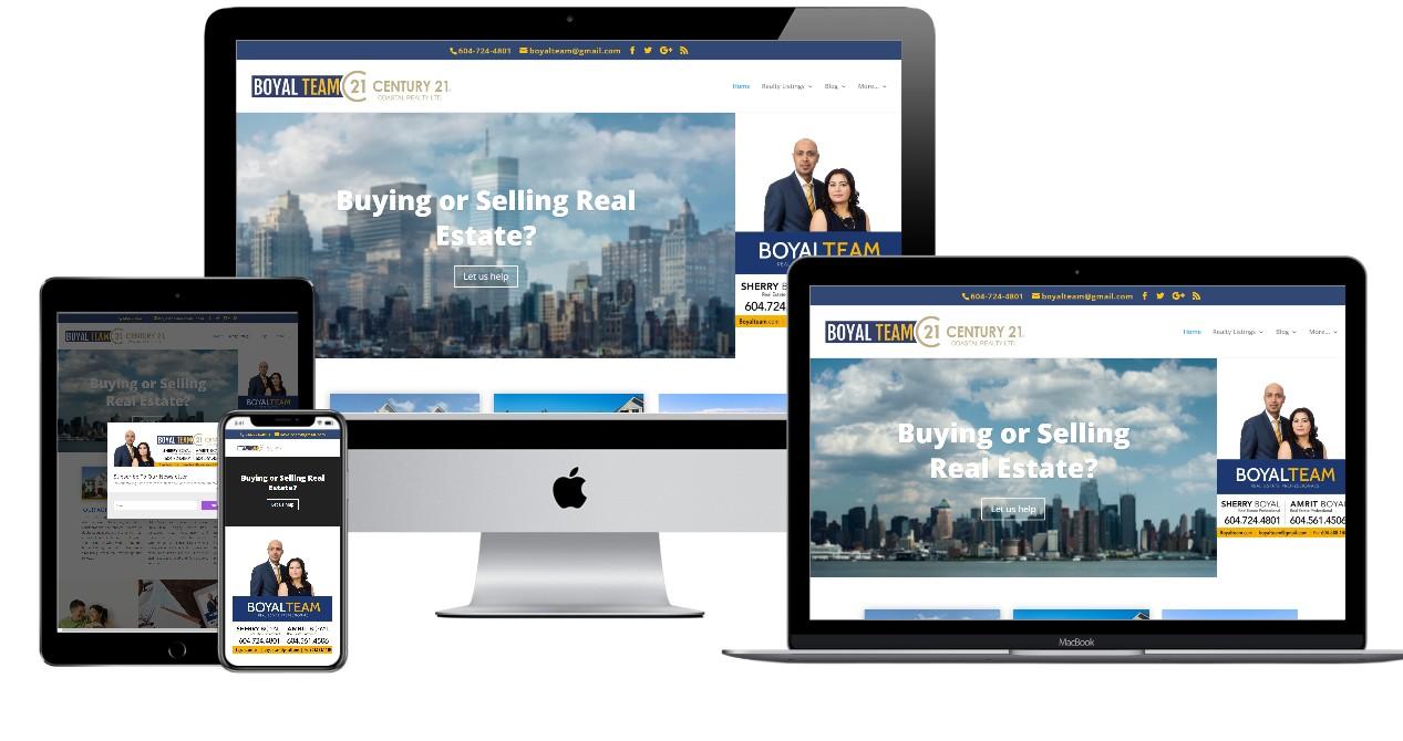 Real Estate Website Design – boyalteam.com