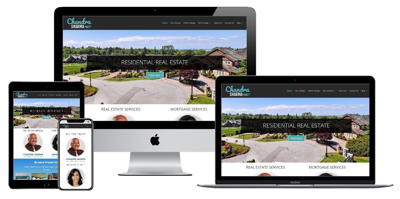 Real Estate Website Design – chandrasharma.ca