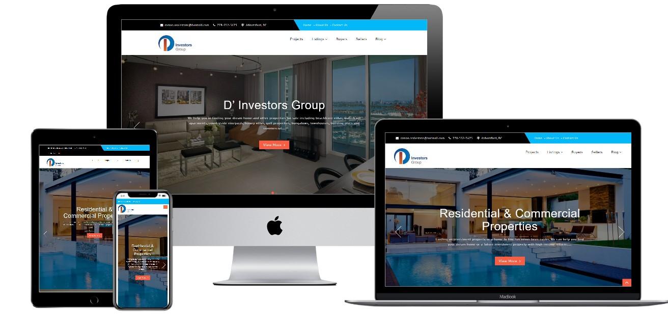 Real Estate Website Design – dinvestorsgroup.com