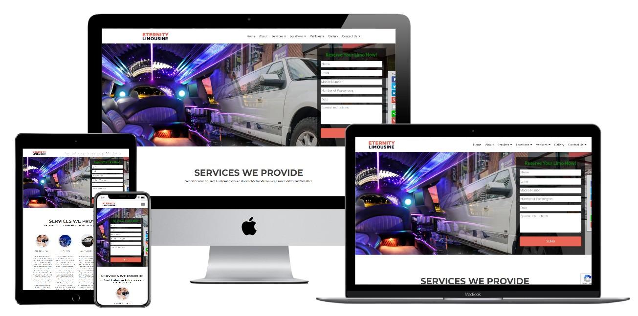 Limousine Service Website Design – eternitylimo.ca