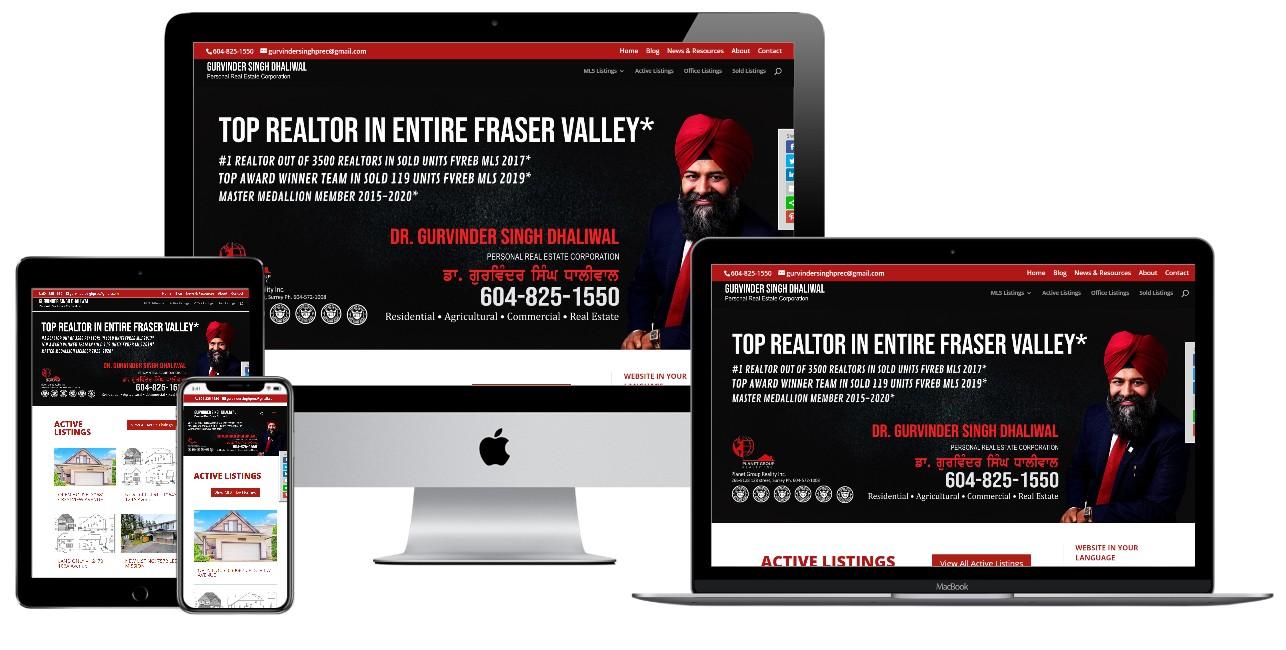 Real Estate Website Design – gurvindersinghdhaliwal.com