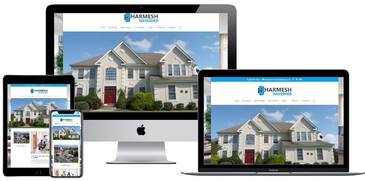 Real Estate Website Design – harmeshdavesher.com