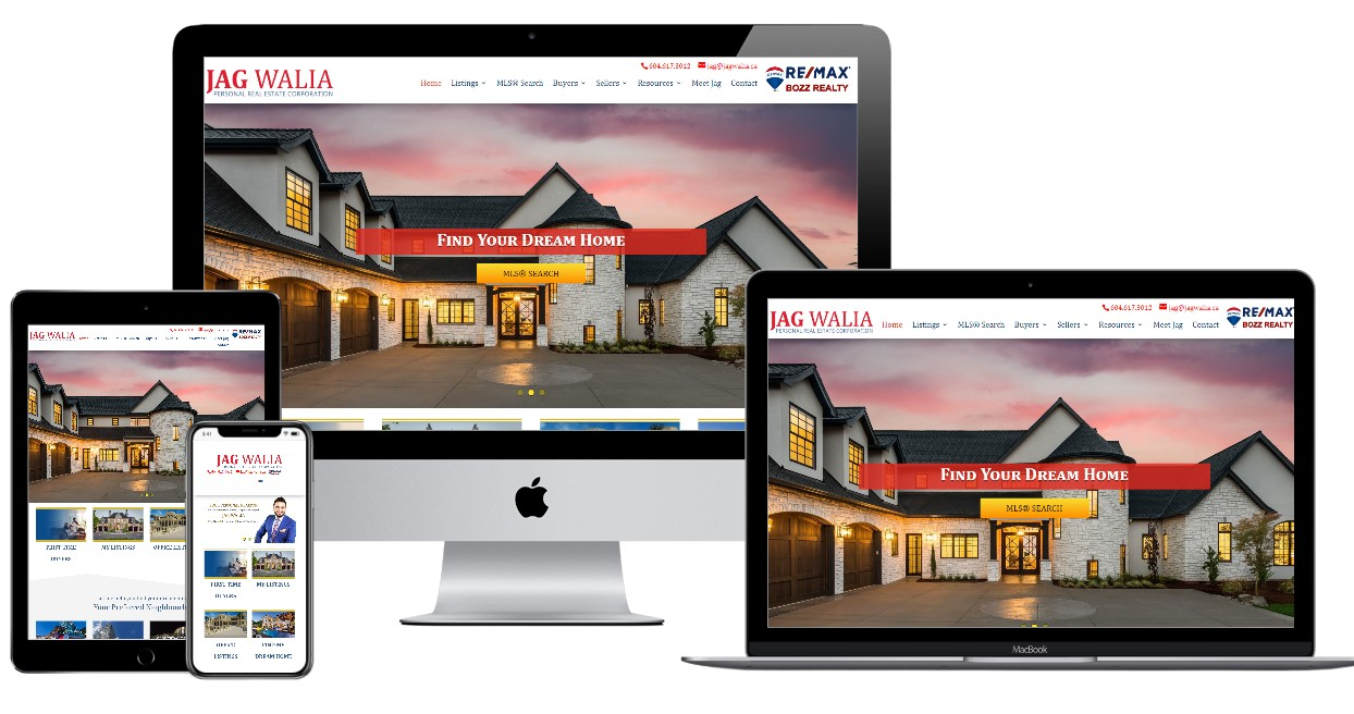 Real Estate Website Design – jagwalia.ca
