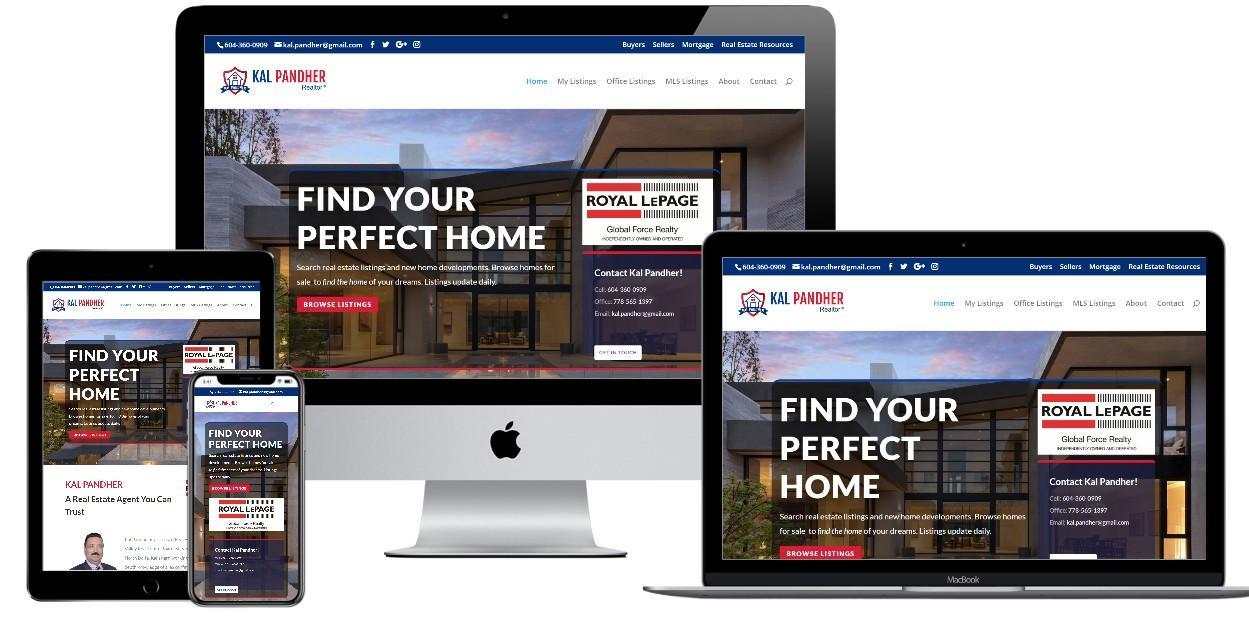 Real Estate Website Design – kalpandher.ca