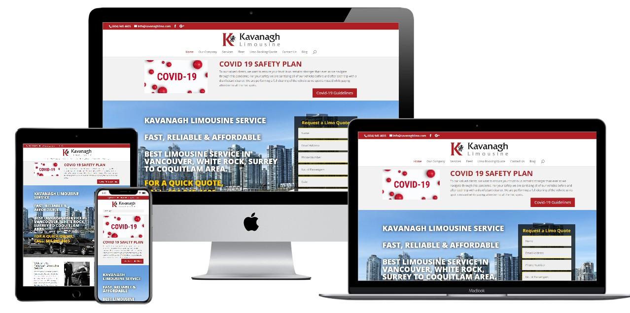 Limousine Service Website Design – kavanaghlimo.com