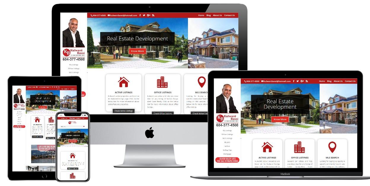 Real Estate Website Design – kulwantbassi.com