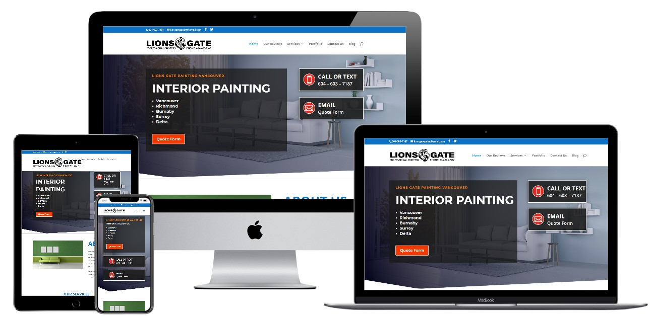 Residential and Commercial Painting Website Design – lionsgatepaint.com